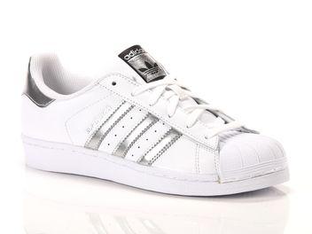 adidas superstar bianco e argento