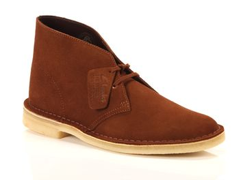 Clarks Desert Boot Dark Tan Suede  big