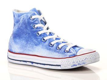 converse hi canvas azzurro artico