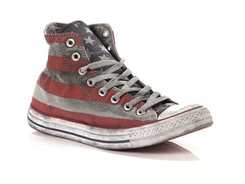 Converse Chuck Taylor All Star Hi Canvas LTD Stars and Bars Distressed big