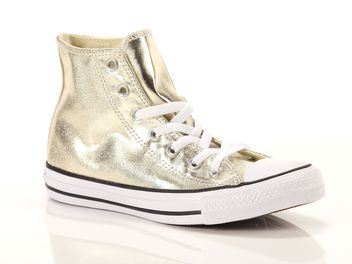 Converse Chuck Taylor All Star High Canvas Metallic Textile Oro  big