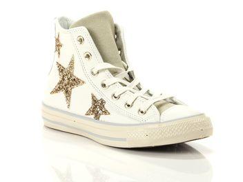 converse leather glitter