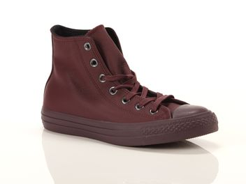 Converse Chuck Taylor All Star High Leather Bordeaux big