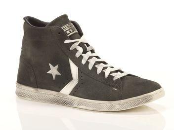 converse pro leather lp mid grigie