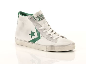Converse Pro Leather Vulc Mid Leather Bianco  big