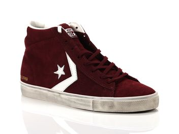 Converse Pro Leather Vulc Mid Suede Distressed big