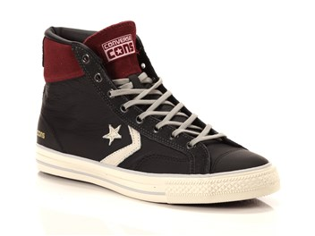 Converse Star Player High Leather Nere Rosse  big