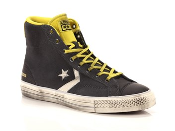 Converse Star Player High Suede Leather grigia big