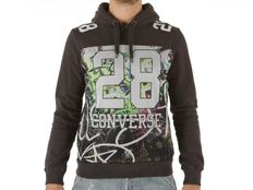 Felpa Converse Fleece Sweater Auth Man 28 Mesh Hood