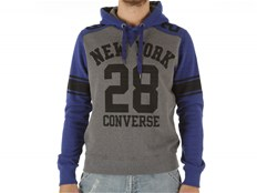 Felpa Converse Fleece Sweater Auth Man NY 28 Hood