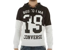 Felpa Converse Interlock Sweater Auth Man 2 Colors Hood