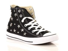 Sneaker alta Converse All Star Chuck Taylor High Canvas LTD Nere Gold Multistuds Lux