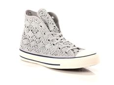 Sneaker alta Converse All Star Chuck Taylor High Crochet Silver White Navy