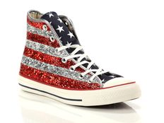 Sneaker alta Converse All Star Chuck Taylor High Textile Glitter Print Star and Bars Glitter
