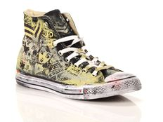 Sneaker alta Converse Chuck Taylor All Star High Canvas LTD Black Red Splash Hand Paint