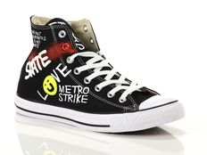 Sneaker alta Converse Chuck Taylor All Star High Canvas LTD Black Writing Graffiti