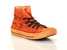 Sneaker alta Converse Chuck Taylor All Star High Canvas LTD Orange Print Shark