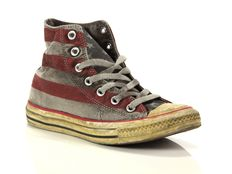 Sneaker alta Converse Chuck Taylor All Star High Canvas LTD Stars and Bars Distressed Smoke In