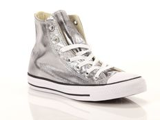 Sneaker alta Converse Chuck Taylor All Star High Canvas Metallic Textile Silver