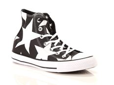 Sneaker alta Converse Chuck Taylor All Star High Canvas Print Nere White Big Stars