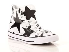 Sneaker alta Converse Chuck Taylor All Star High Canvas Print White Black Big Stars