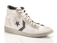 Sneaker alta Converse Pro Leather LP Mid Canvas bianche