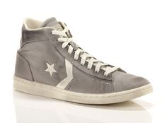 Sneaker alta Converse Pro Leather LP Mid Canvas grigie