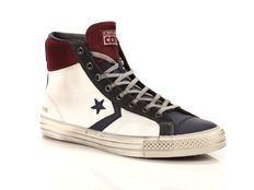 Sneaker alta Converse Star Player High Leather Suede Bianco