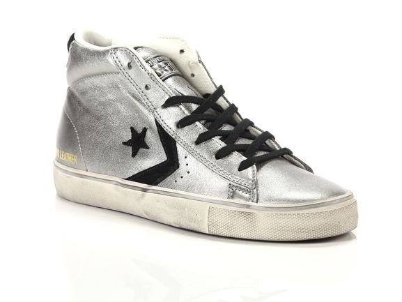 converse leather femme