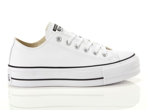 Converse Chuck Taylor All Star Lift Clean Ox White Woman 561680c Yousporty