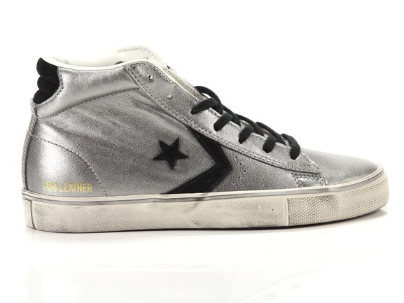 Pro Leather Vulc Mid Leather Metallic Distressed