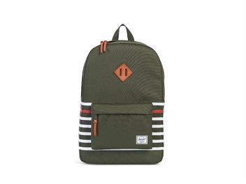 Herschel Heritage Offset Backpack Forest Night Offset Stripe  big
