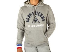 Felpa Le Coq Sportif Asse PO Hood M Light Heather Grey