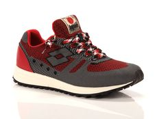 Sneakers Lotto Leggenda Fuji Ito Red Prestige Grey Cement