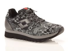 Sneakers Lotto Leggenda Osaka Black Flower Black