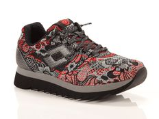 Sneakers Lotto Leggenda Osaka Red Prestige Flower Red