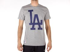 T-shirt New Era MLB Apparel Los Angelser Dodgers Light Grey Heather