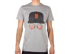 T-shirt New Era MLB Cap and Glasses Tee San Francisco Giants Light Grey Heather