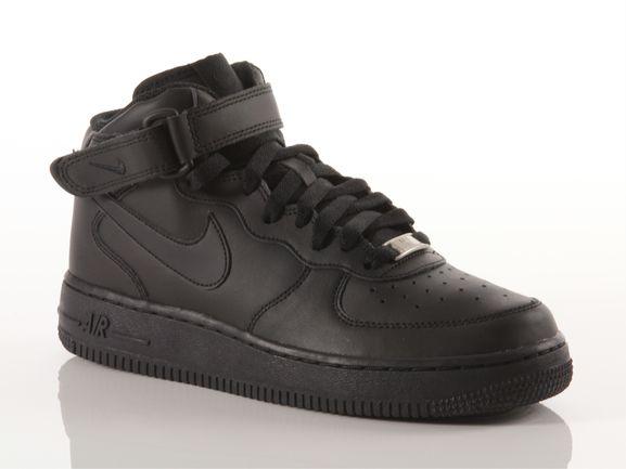 super mignon 92b39 05e9f Nike Air force 1 mid bg black Kid 314195 004 | YOUSPORTY