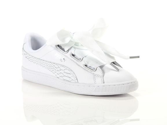 buy popular 73125 d2219 Puma Basket heart oceanaire wmns white Woman 366443 02 ...