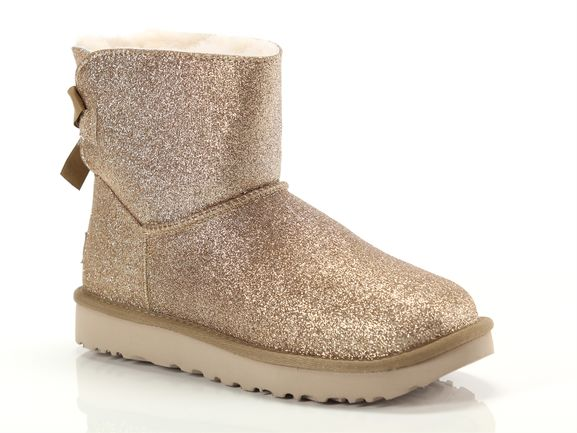 Ugg Mini bailey bow sparkle Donna 1100053 gold | YOUSPORTY