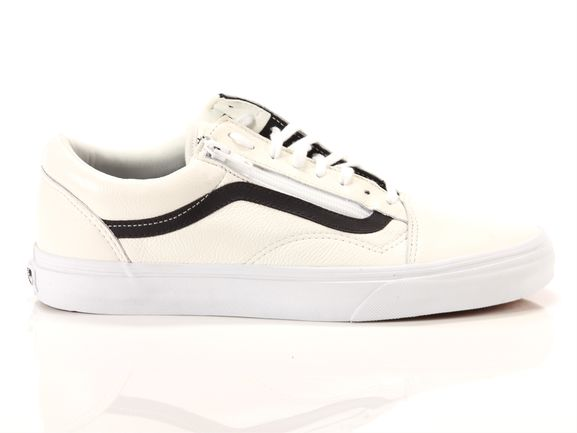 vans premium leather white