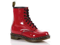 Boots Dr Martens Anfibio 1460 Boot Rosso Lucido