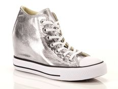 Sneakers Alte Converse Chuck Taylor All Star Mid Lux Canvas Metallic Textile