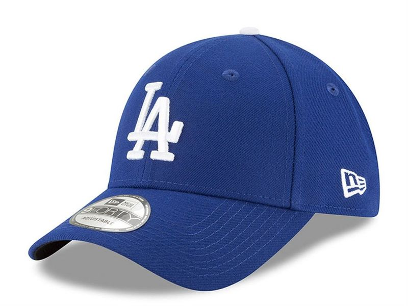 Image of New Era league essential 940 los angelese dodgers light royal optic white,
