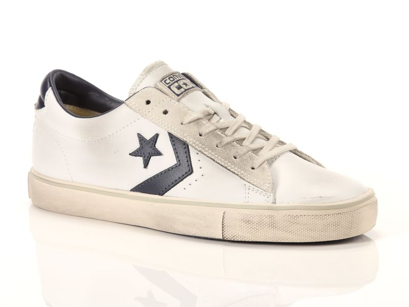 Image of Converse pro leather vulc ox leather navy, 35½, 36, 37, 37½, 38, 38½, 40, 40½, 41, 42, 42½, 43, 44, 45 Negro