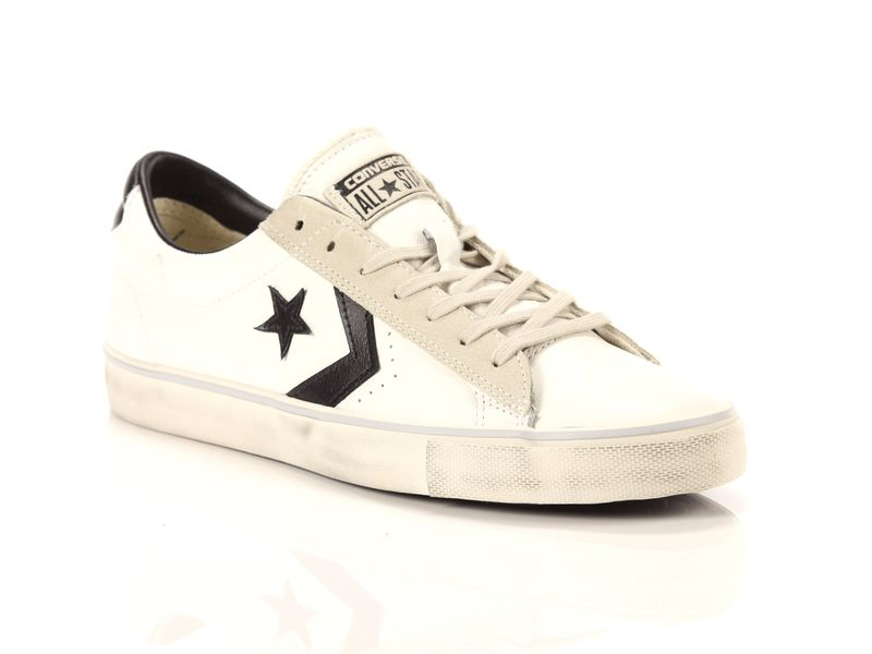Image of Converse pro leather vulc ox leather distressed white black grey, 40½ AzulBleu
