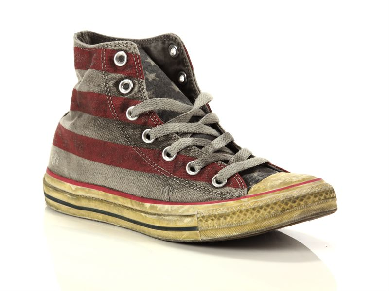 Image of Converse chuck taylor all star high canvas ltd stars and bars distressed smoke in, 36, 36½, 37, 37½, 39, 39½, 40 Donna, NoirNegro