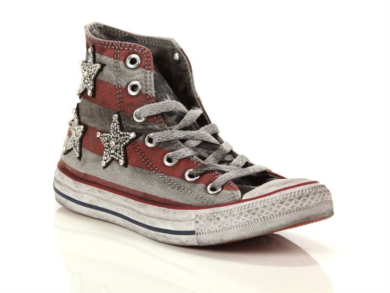 Image of Converse chuck taylor all star high canvas ltd jewels stars and bars, 37, 37½ Donna, NoirNegro