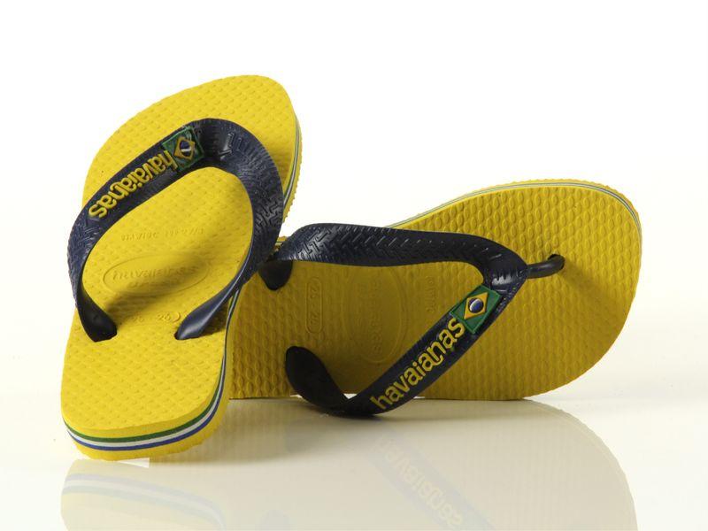 Image of Havaianas havaianas brasil logo citrus yellow, 27-28, 29-30, 31-32 Bambino, Noir